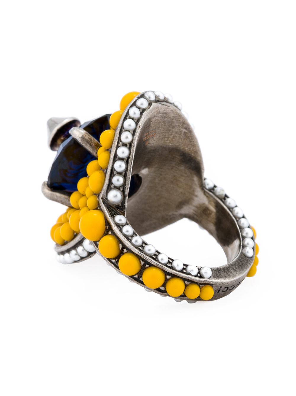 Gucci multi-beaded ring