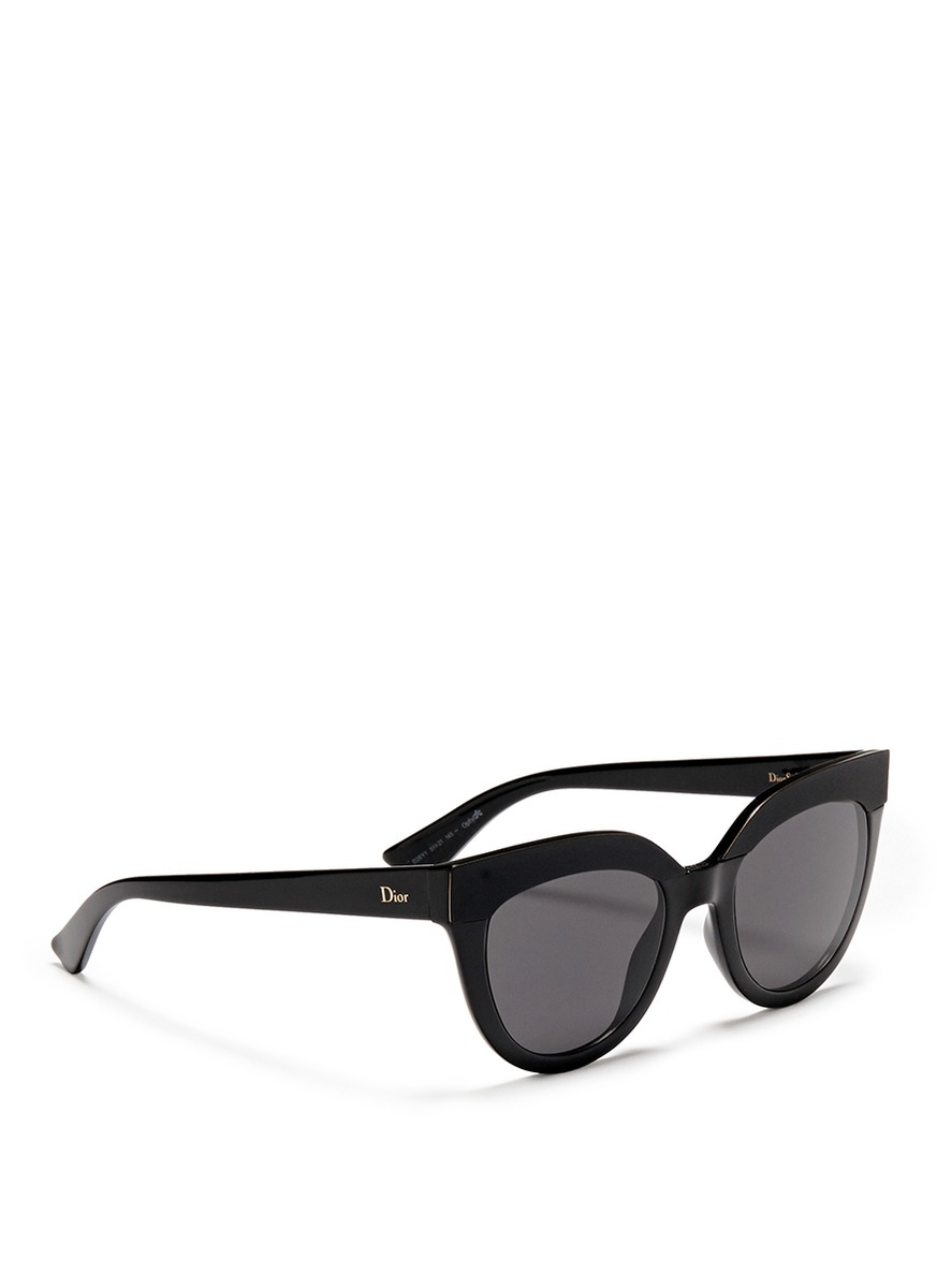 Dior Sunglasses Black  dior soft 1 matte brow bar acetate cat eye sunglasses in black