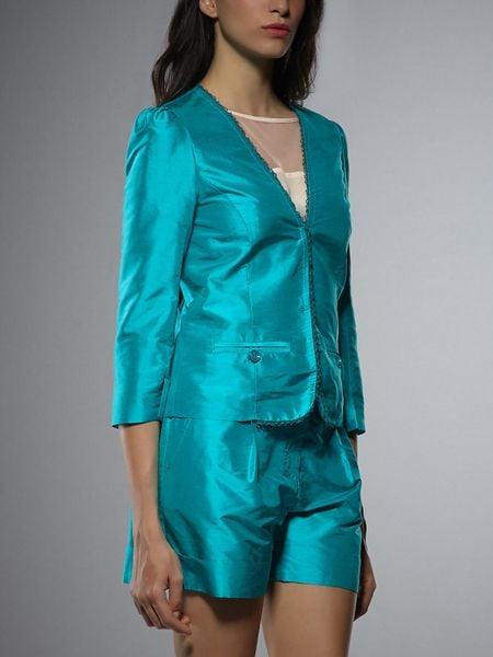 patrizia pepe short jacket with three quarter sleeves in