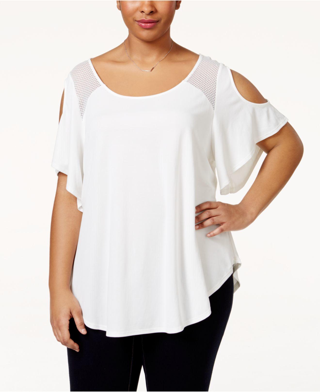 Dressy White Tops Plus Size Anlis