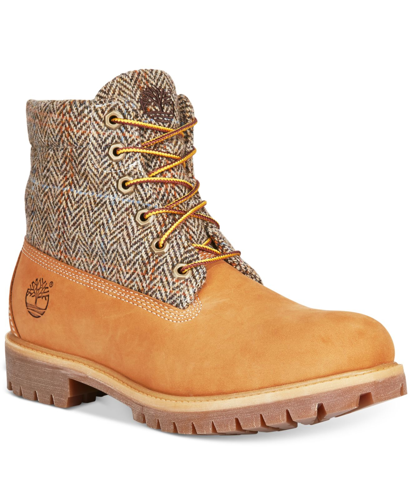 timberland roll top wheat boots