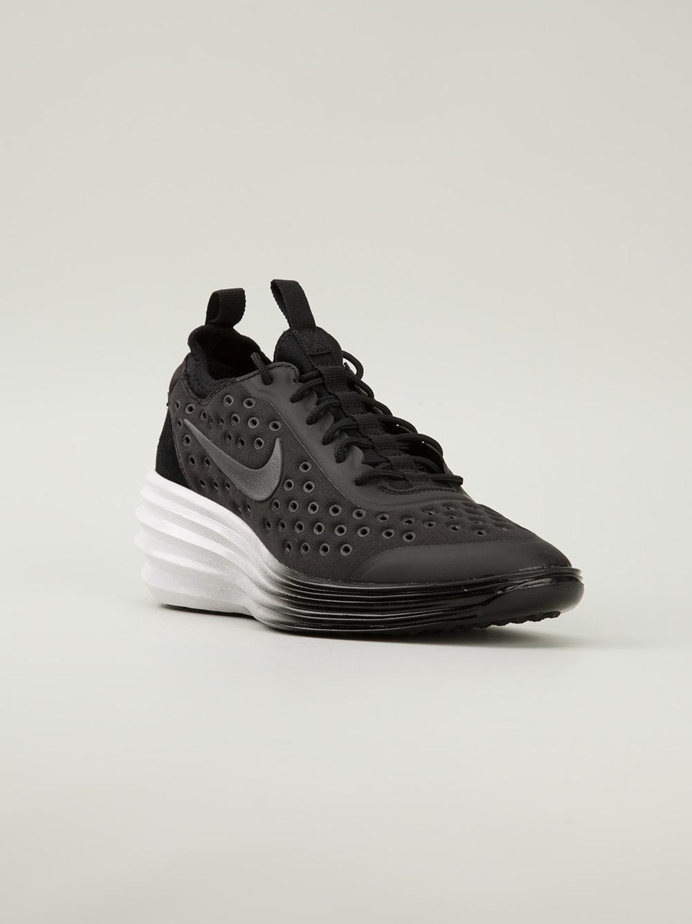 online store 5a703 12379 Nike Lunarelite Sky Hi Trainers in Black - Lyst