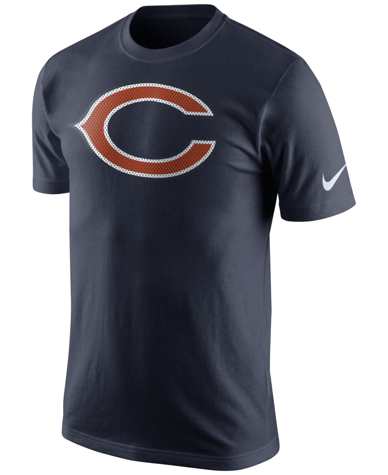 Nike Men 39 S Chicago Bears Mesh Logo T Shirt In Blue For Men