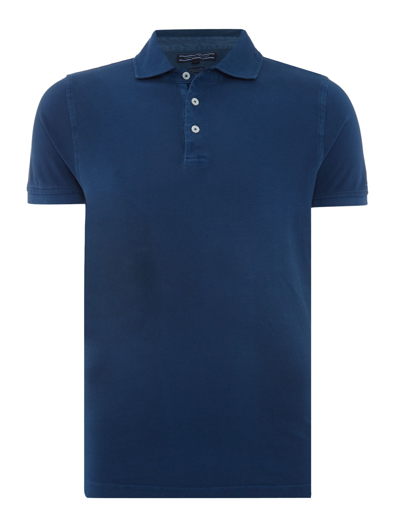 tommy hilfiger garment dyed polo top in blue for men lyst. Black Bedroom Furniture Sets. Home Design Ideas