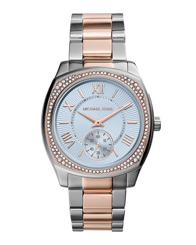 49b210d56005 Lyst - Michael Kors Bryn Two-Tone Stainless Steel Glitz Watch in Gray