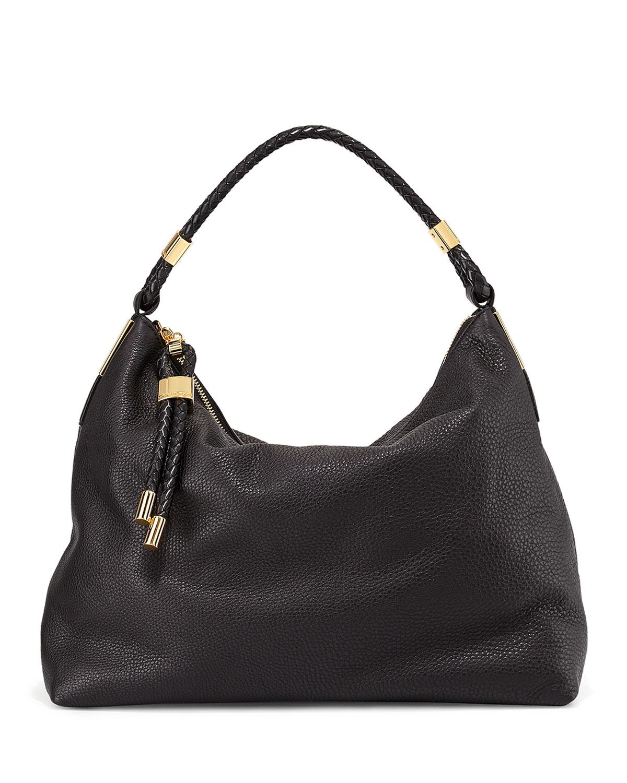 michael kors skorpios top zip hobo bag in black lyst. Black Bedroom Furniture Sets. Home Design Ideas