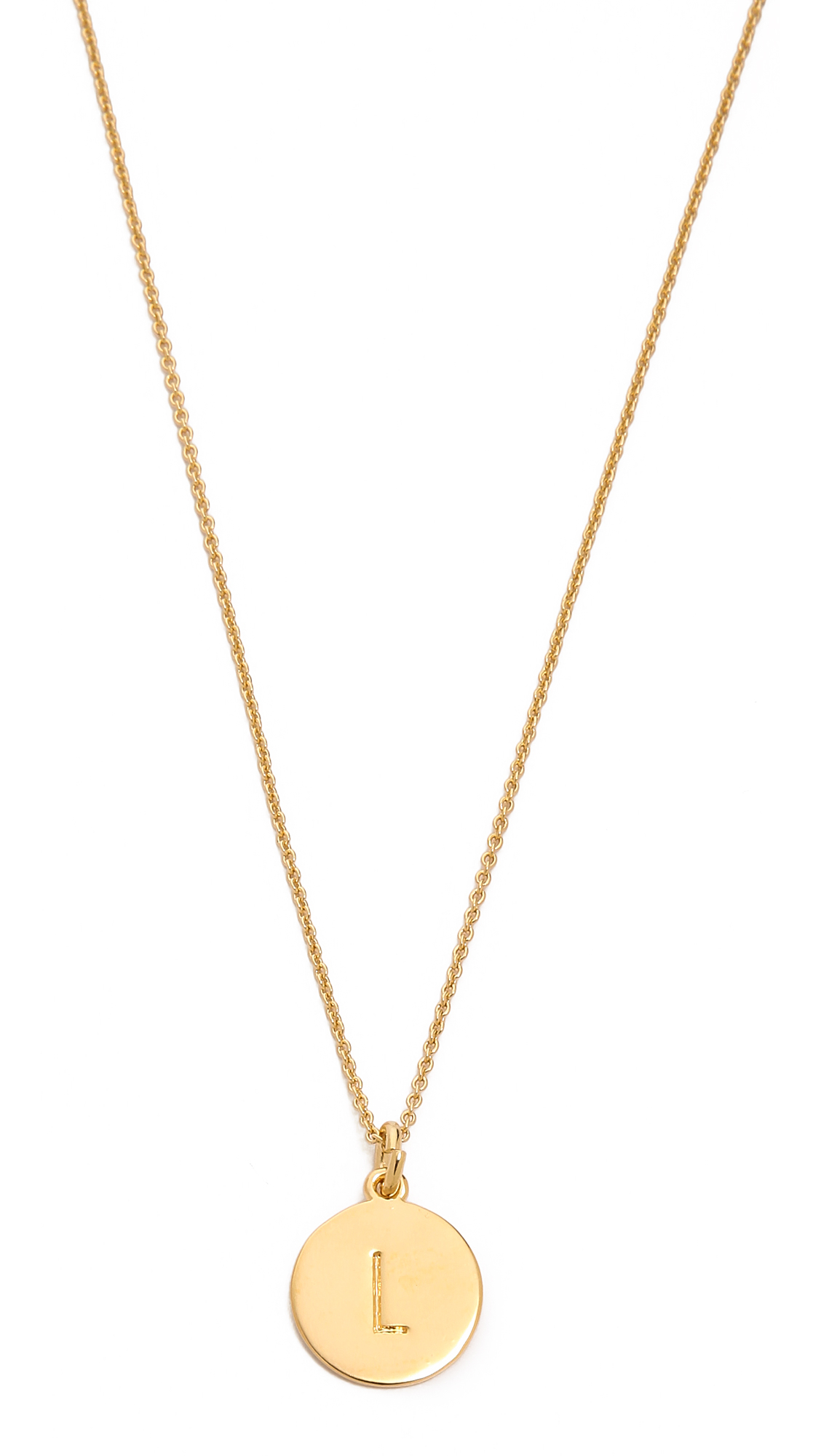 kate spade letter pendant necklace in gold l lyst