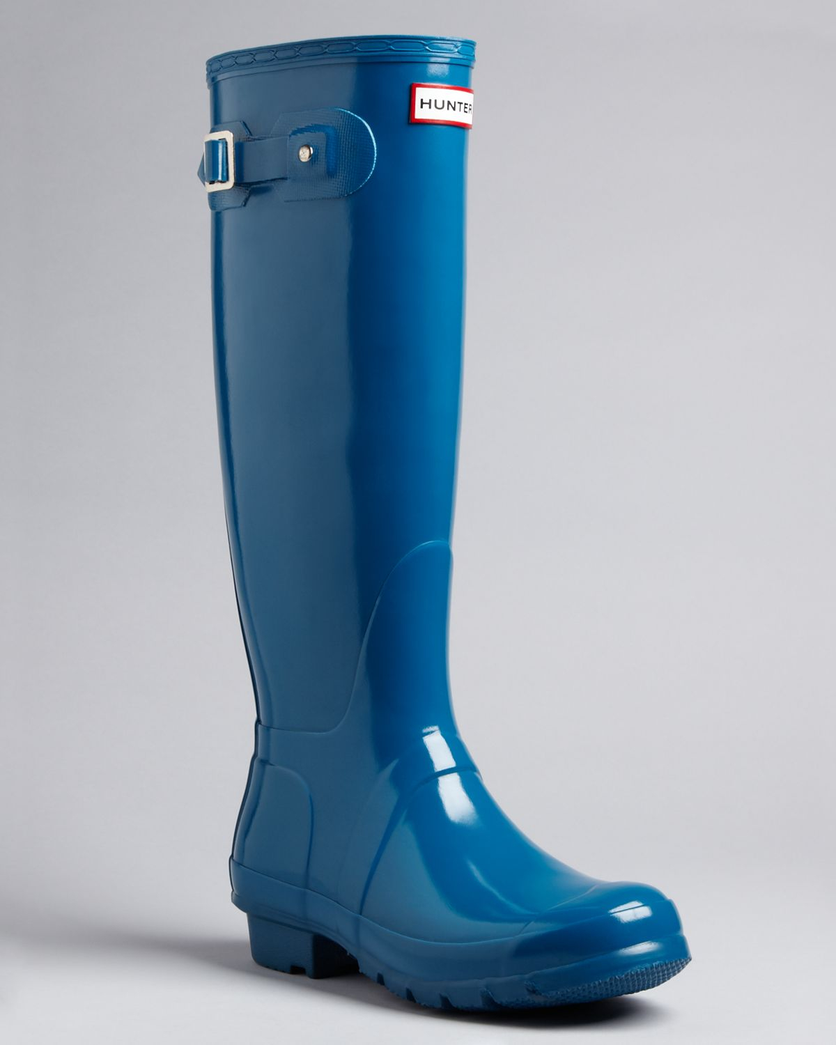 Hunter Rain Boots Original Tall Gloss in Blue | Lyst
