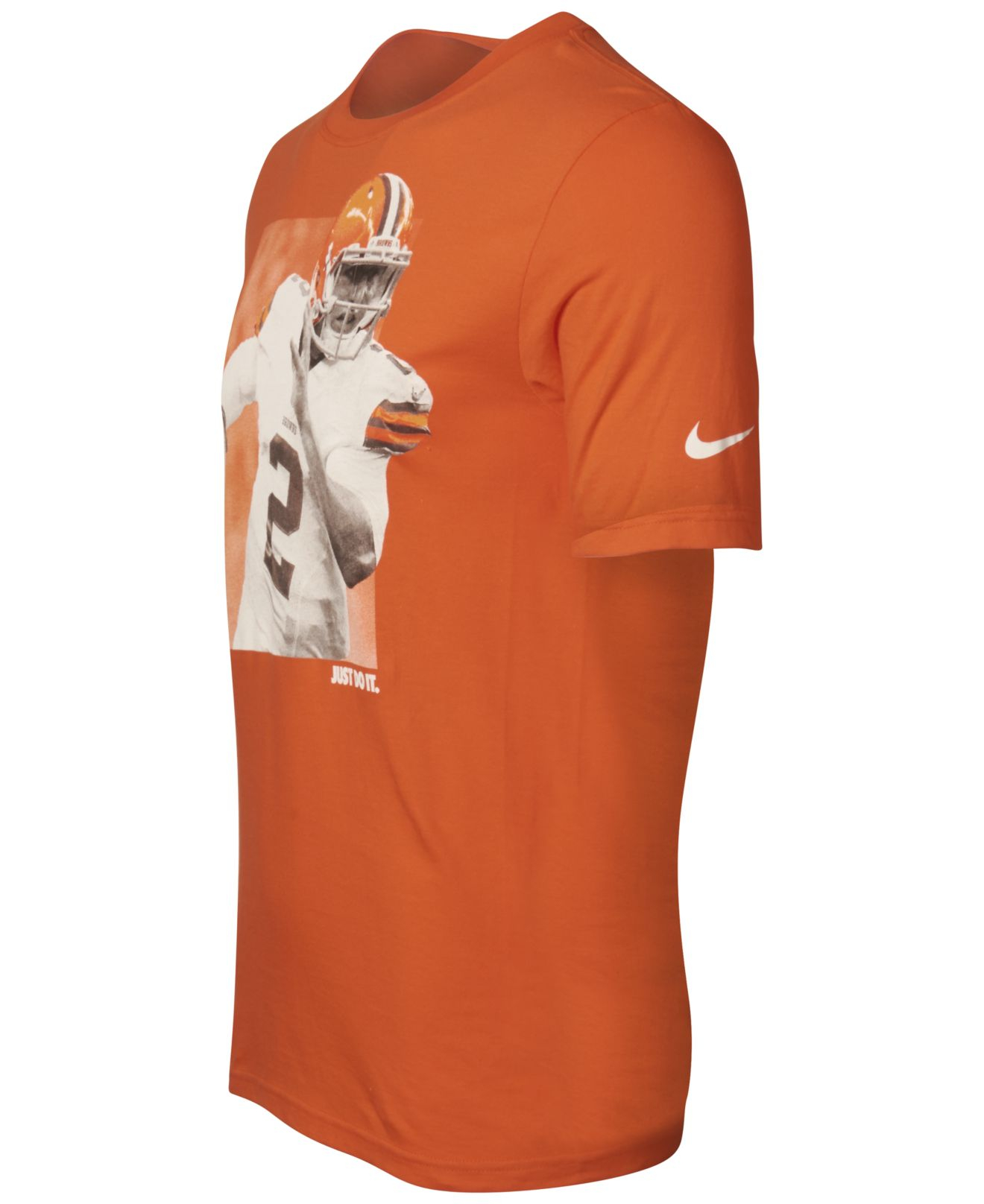 95a8acfed839 Nike Men's Johnny Manziel Cleveland Browns Player Jdi T-shirt in ...
