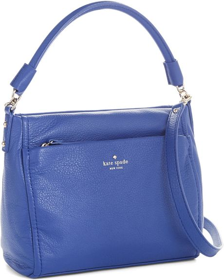 Kate Spade Cobble Hill Curtis Leather Hobo Bag in Blue