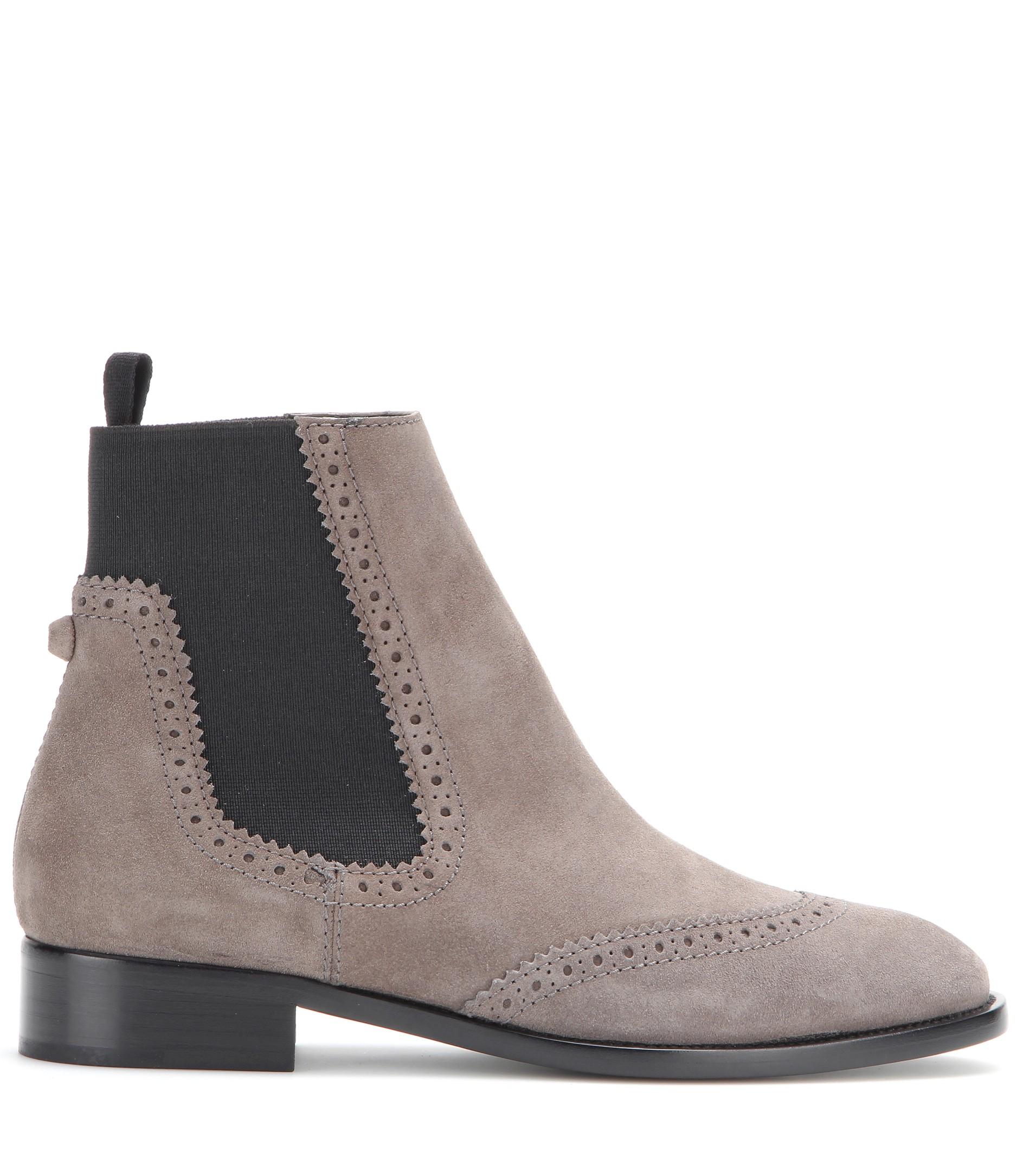 Lyst - Balenciaga Suede Chelsea Boots in Black