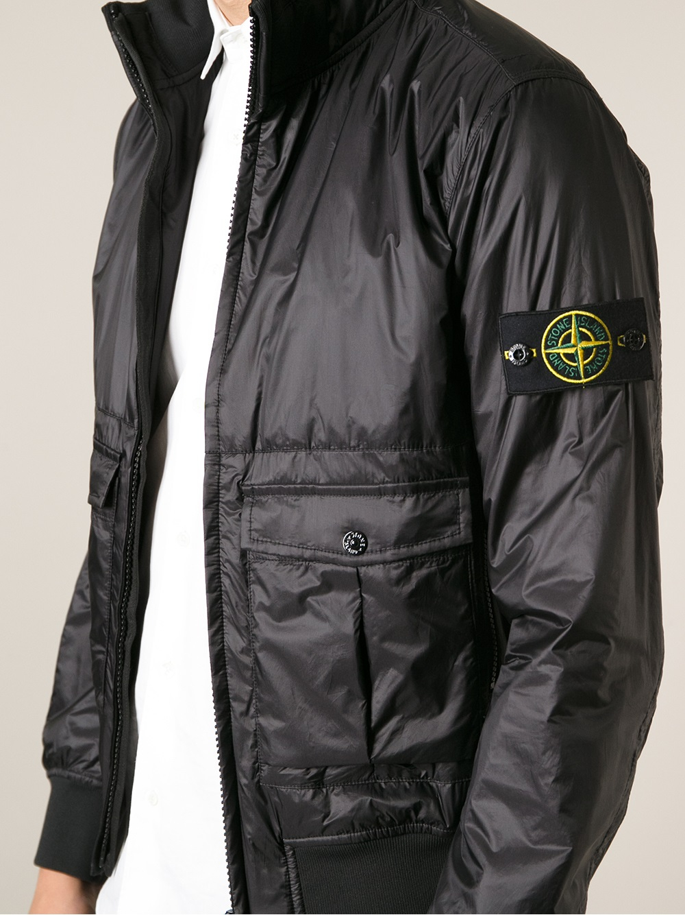 stone island bomber jacket in black for men lyst. Black Bedroom Furniture Sets. Home Design Ideas