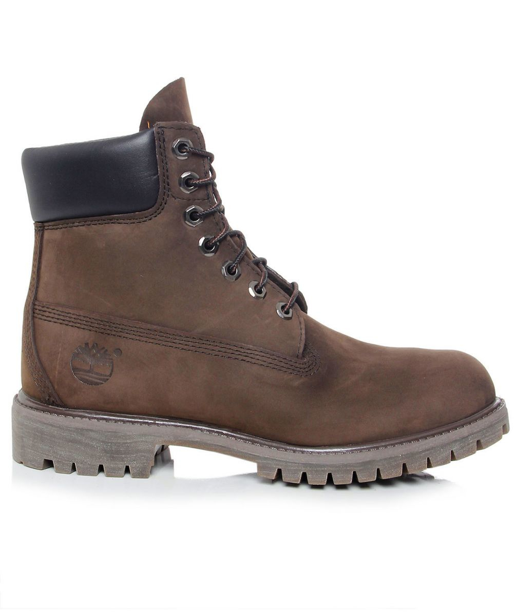 timberland 6 inch premium waterproof boot in brown for
