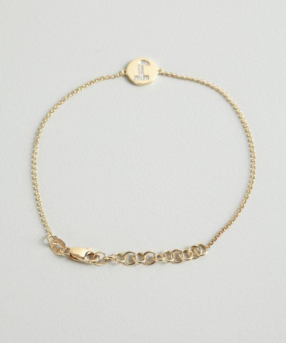 Initial pendant bracelet best bracelet 2018 kc designs gold and diamond j initial pendant bracelet in mozeypictures Image collections