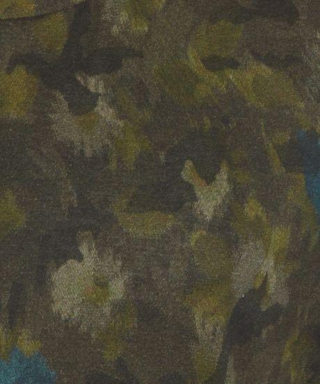 Valentino Dark Green Floral Camouflage Print Tshirt in ...
