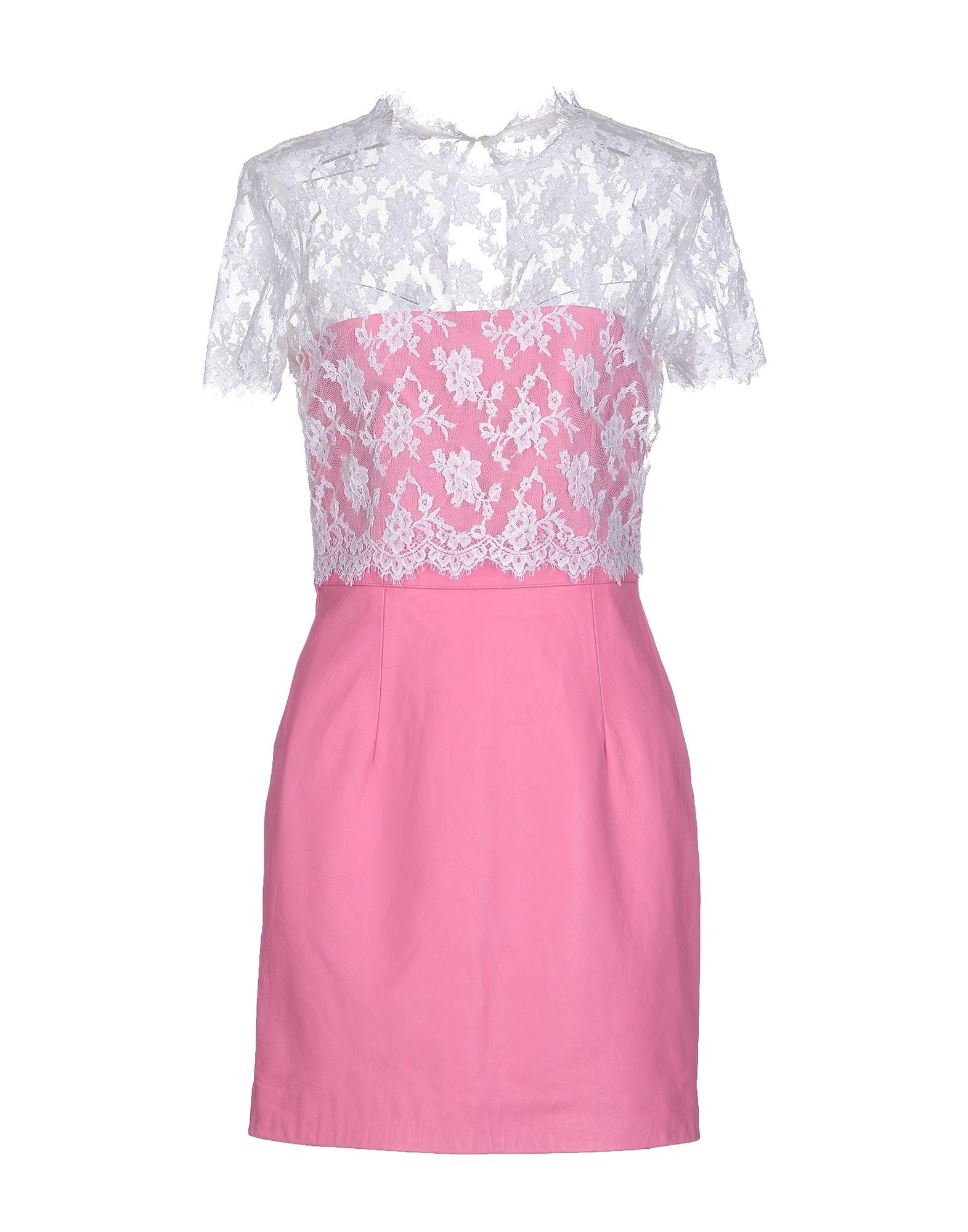 Lyst valentino short dress in pink for Valentino short wedding dress