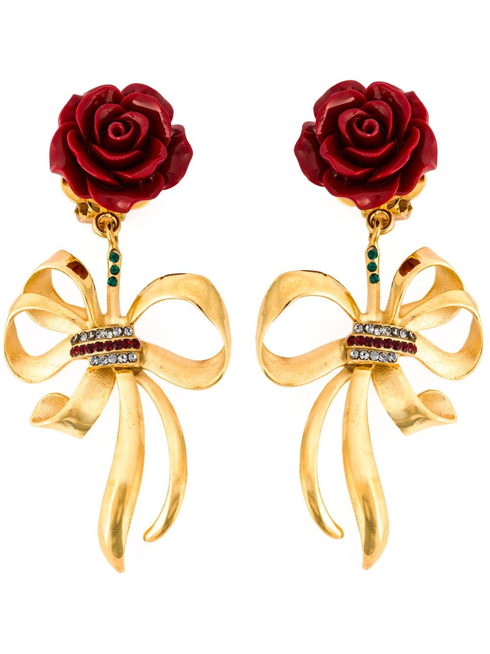 Dolce & Gabbana Rose clip-on earrings e4WTojW39x