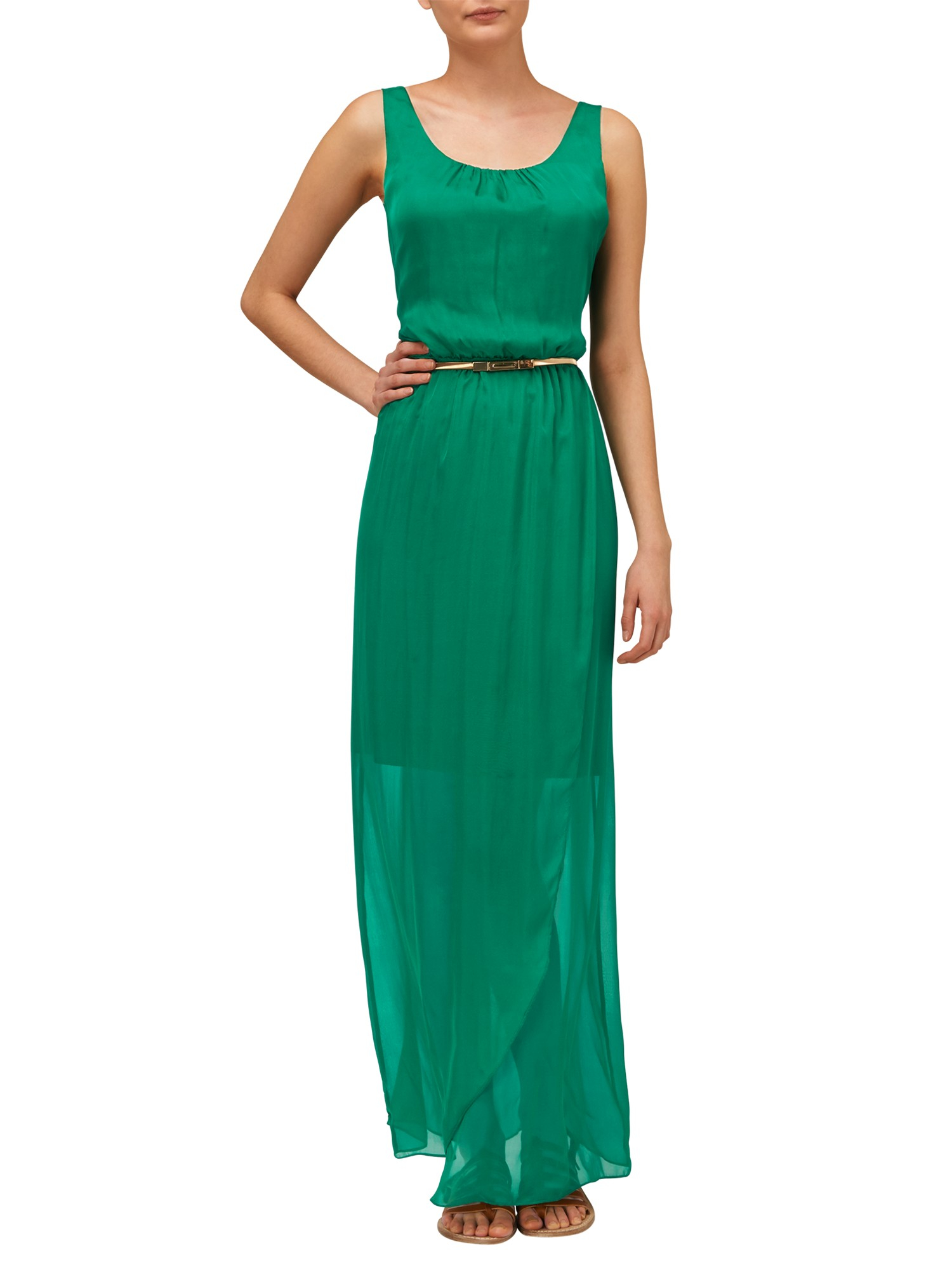 029d3e6bb6ae Phase Eight Elsa Silk Maxi Dress in Green - Lyst