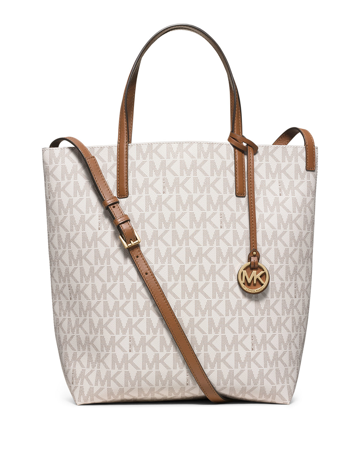 b28e9647ac australia lyst michael michael kors hayley large convertible tote bag in  white f9f03 27547