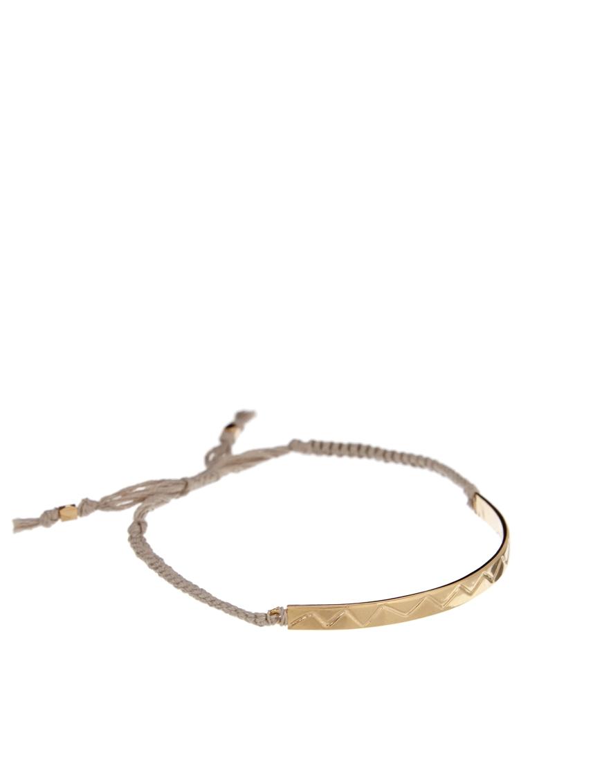 Lyst - Orelia Zig Zag Bar Friendship Bracelet in Gray