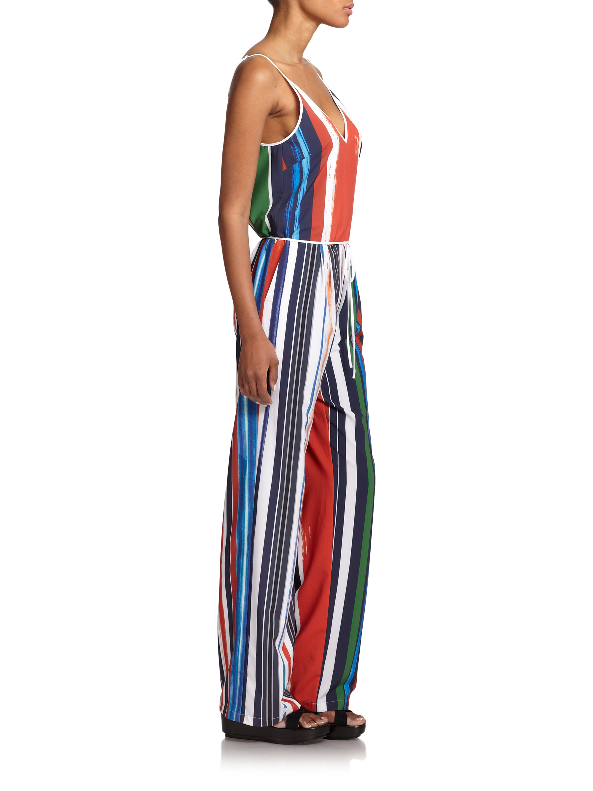 Lyst Clover Canyon Striped Wide Leg Jumpsuit