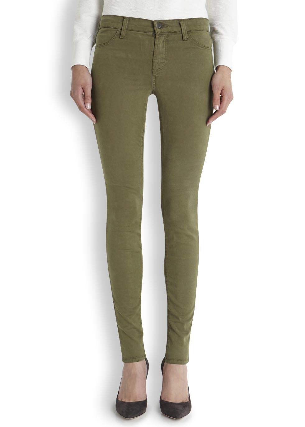 Gallery - J Brand Olive Skinny Jeans In Green Lyst