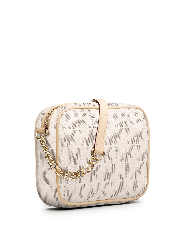 96459d0b1937d Gallery. Previously sold at  Neiman Marcus · Women s Michael By Michael  Kors Jet Set Women s Denim Shoulder Bags ...
