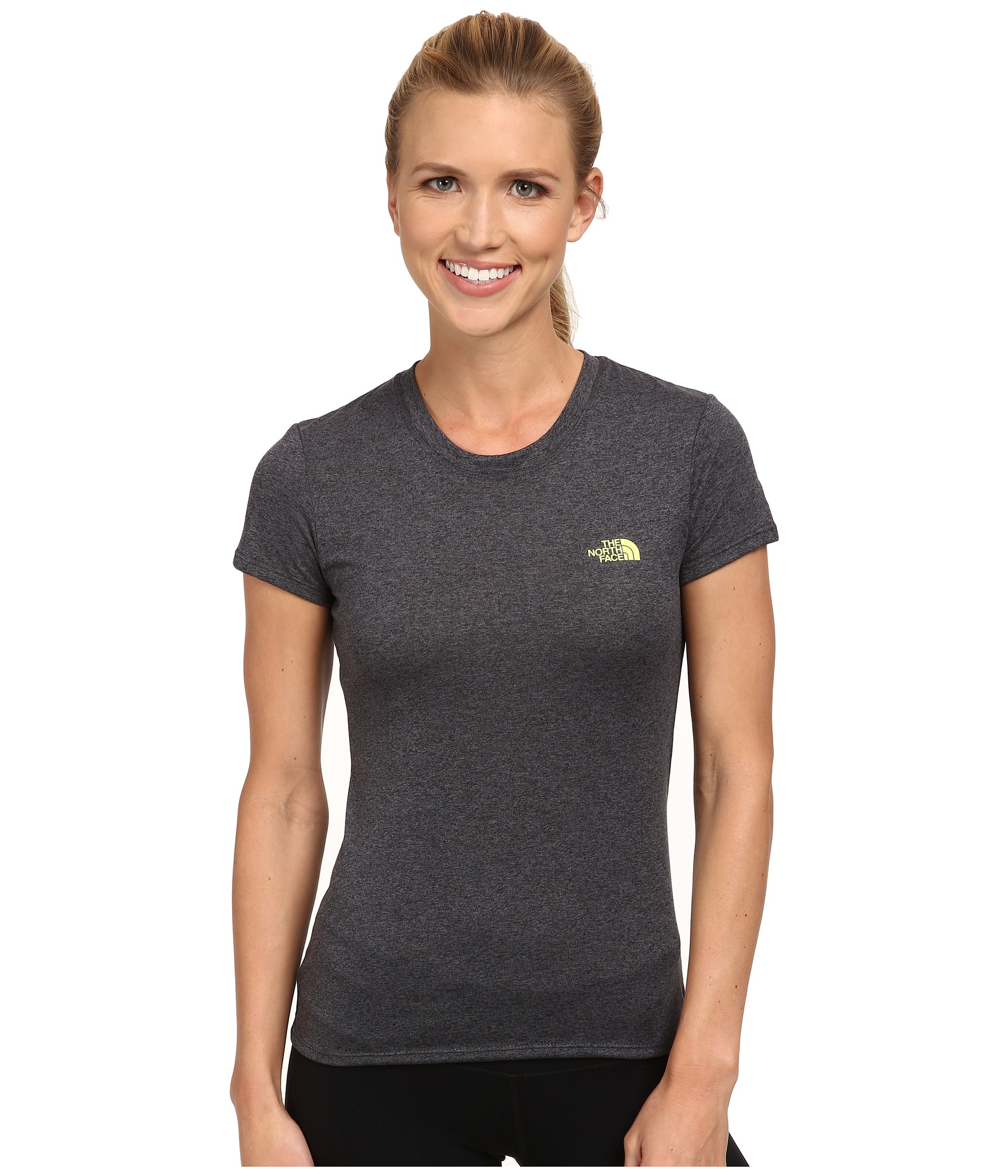 13f45ad60fca The North Face S/S Reaxion Amp Tee in Gray - Lyst