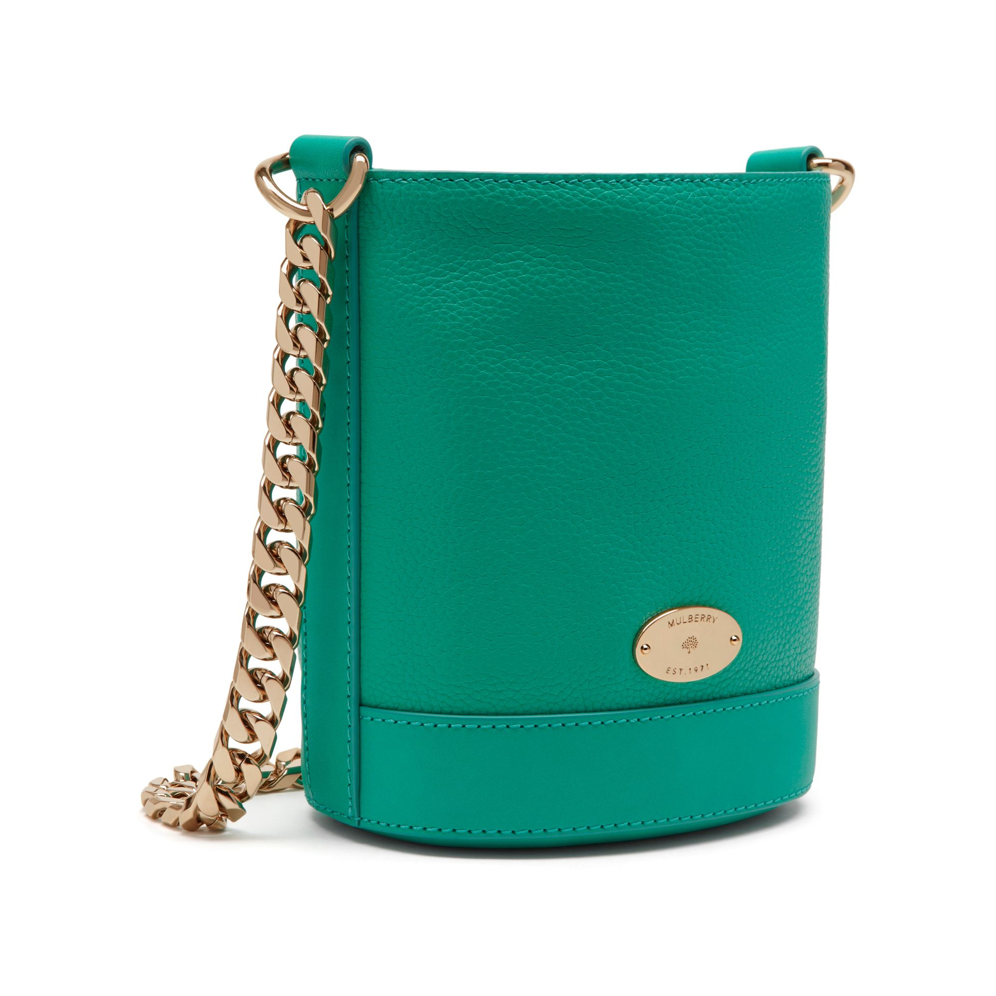 ... where to buy lyst mulberry mini jamie leather bag in green db42b ee396 8f946ecd579fb