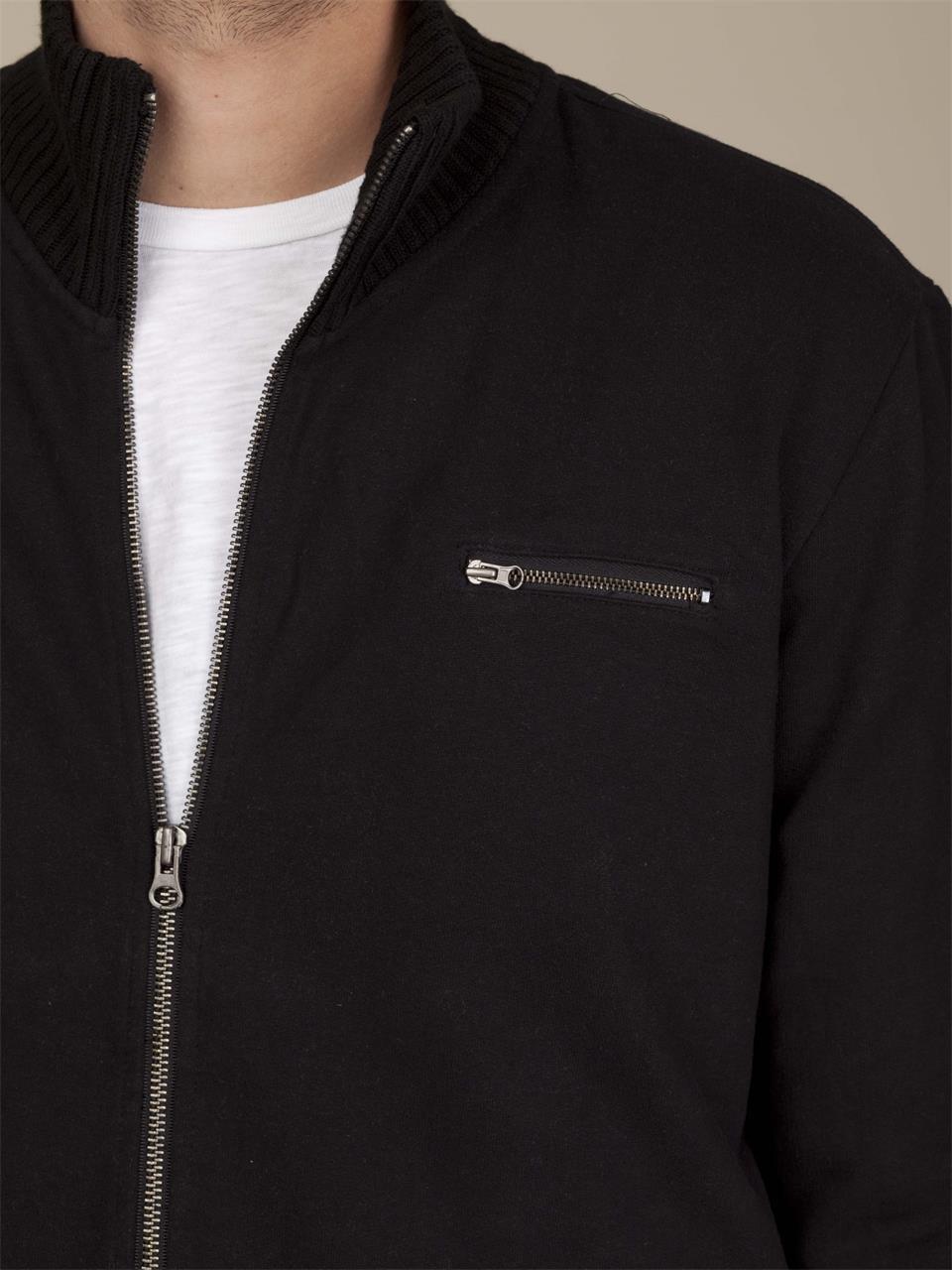 Alternative apparel Chunky Rib Fleece Jacket in Black for Men | Lyst