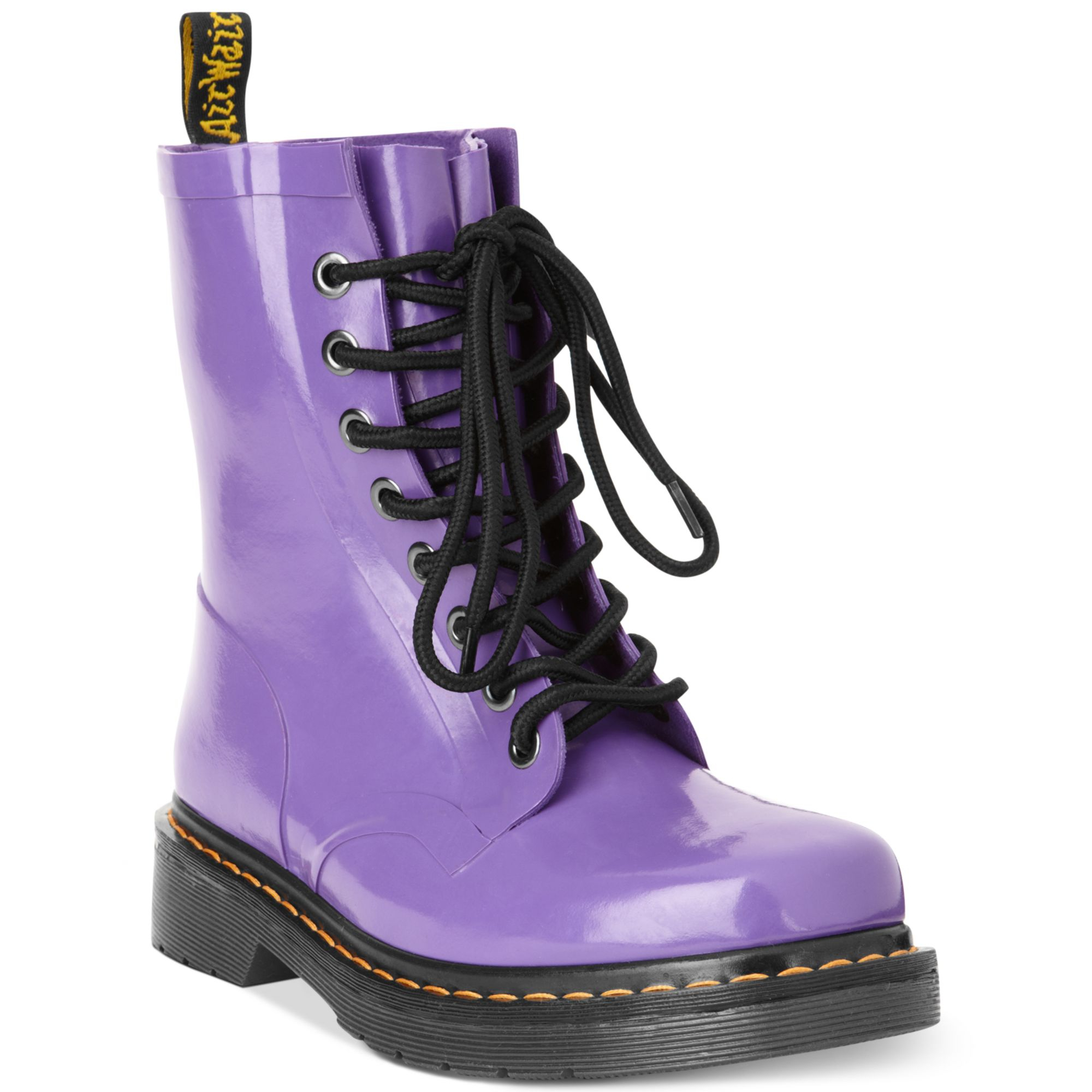 Dr Martens Drench Welly Rain Booties In Purple Purple