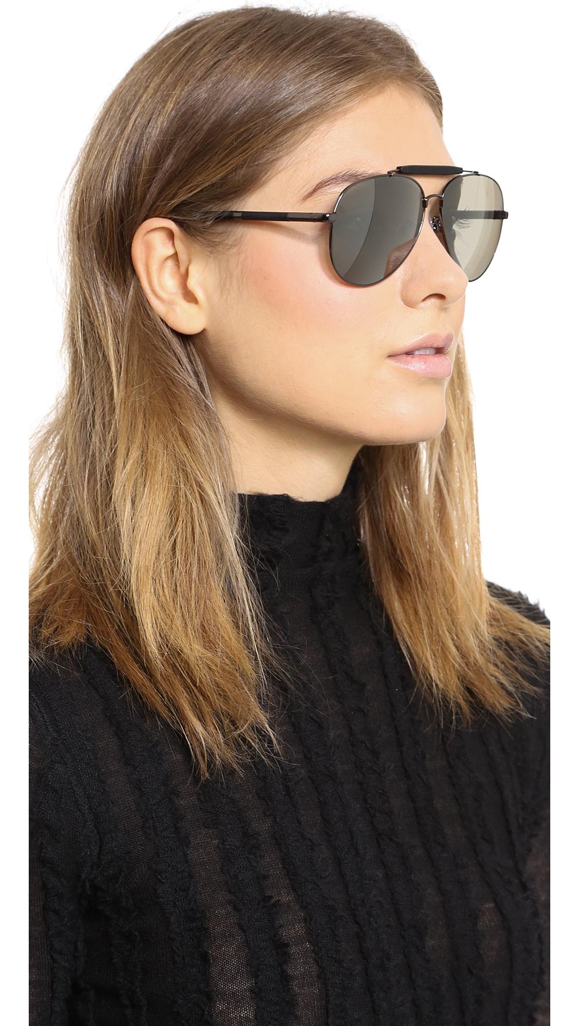 ae53011ffb8 Lyst - Givenchy Top Bar Aviator Sunglasses - Gunmetal Smoke Mirror ...