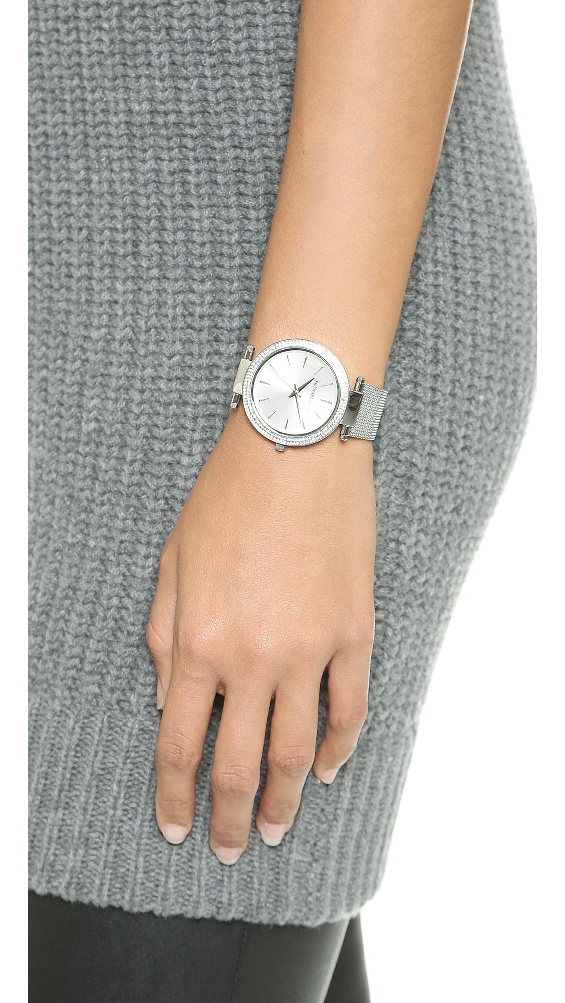 d4b2f6294827 Michael Kors Darci Watch - Silver in Metallic - Lyst