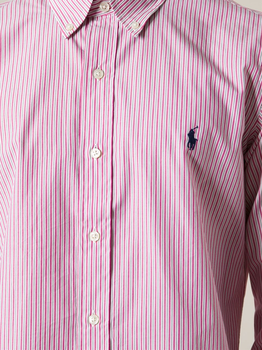 Lyst Polo Ralph Lauren Striped Shirt In Purple For Men