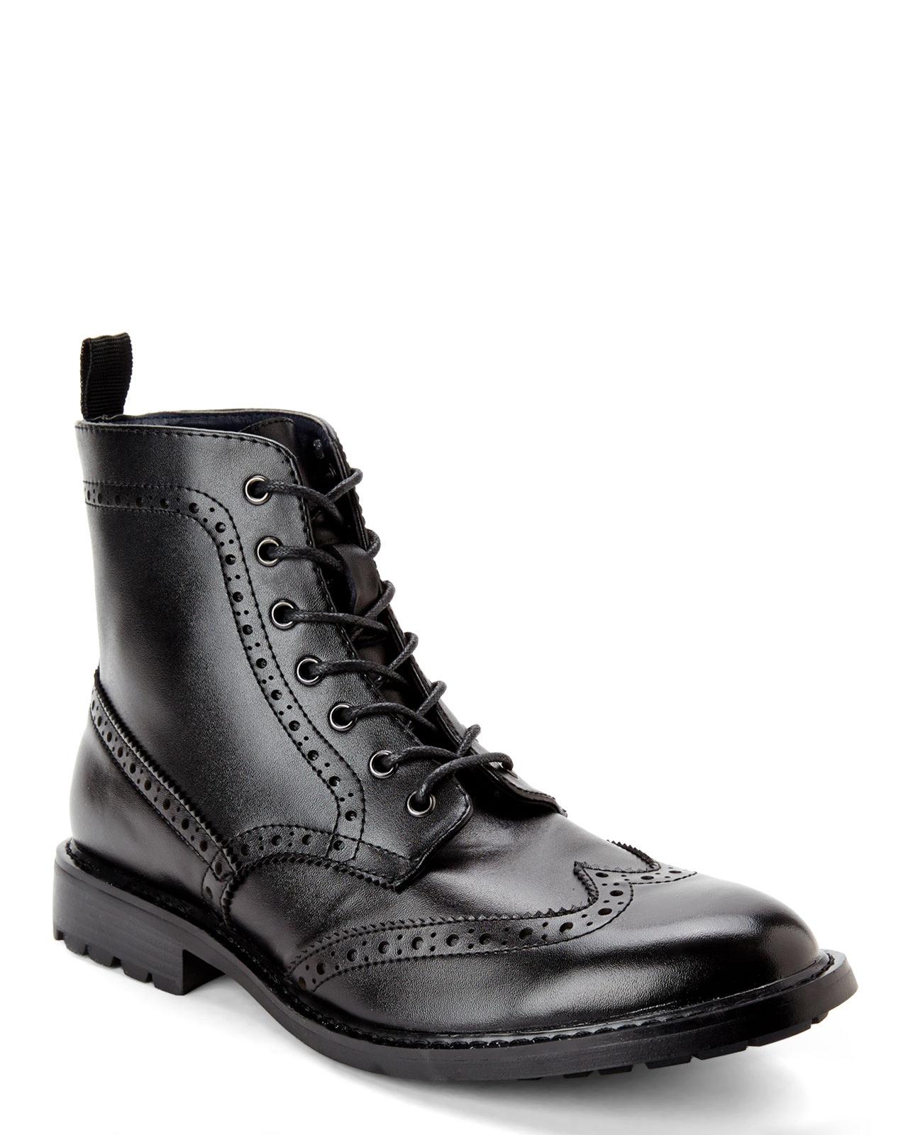 Lyst Joseph Abboud Black Philip Wingtip Boots In Black