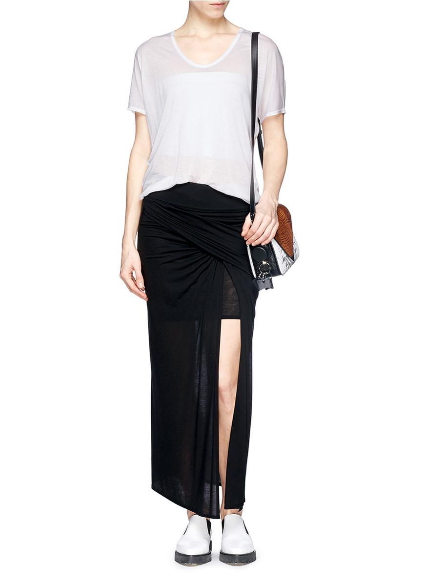 Helmut lang Semi-Sheer Tencel® T-Shirt in White
