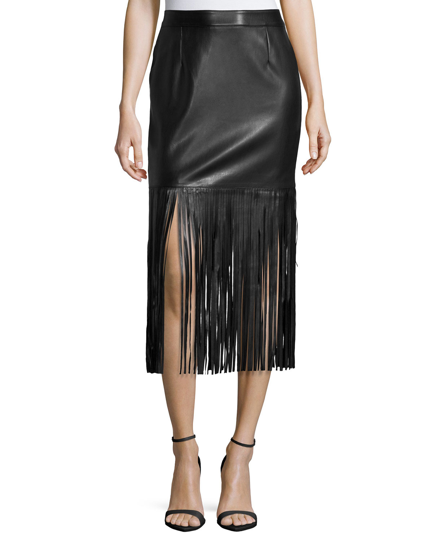 Leather Fringe Skirt 84