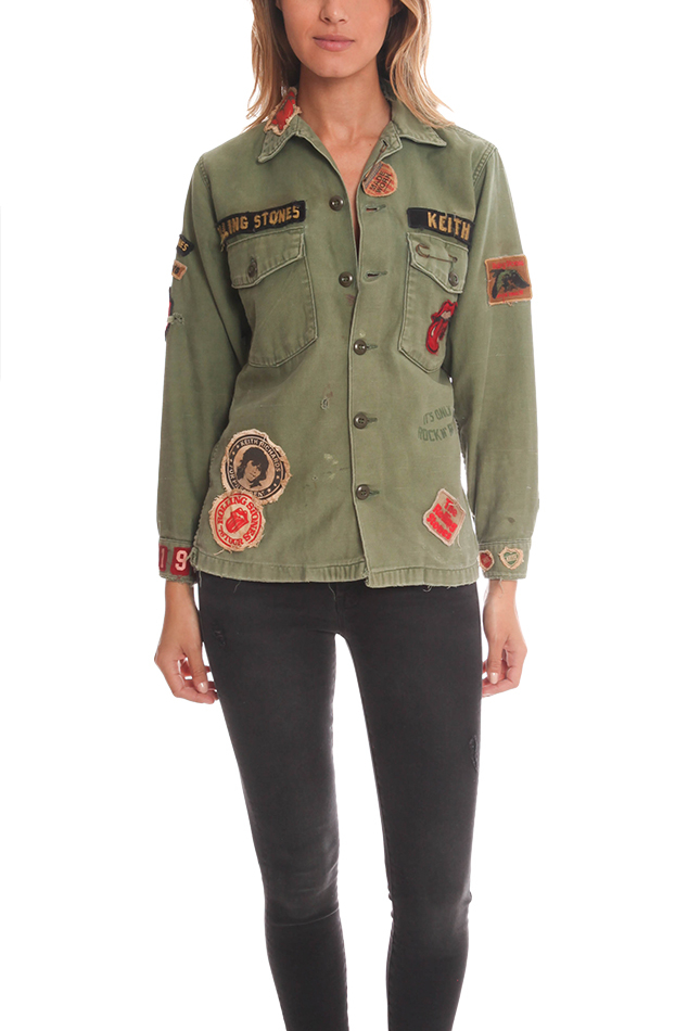Madeworn Rock Patch Detail Army Jacket In Green Lyst