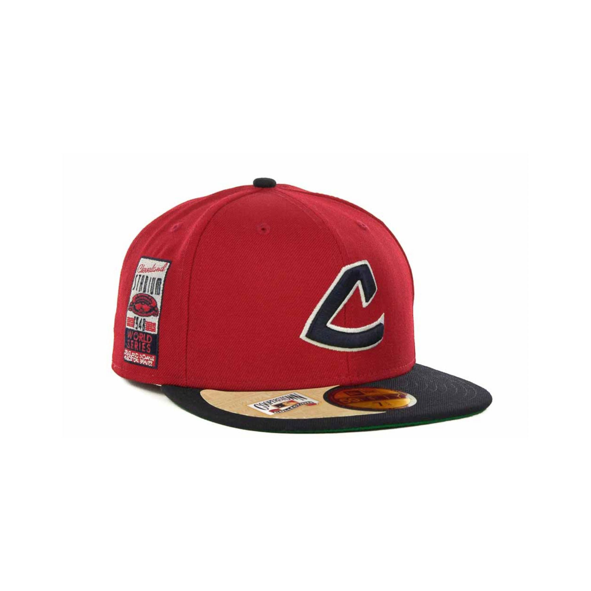pretty nice 474a4 b22bd ... germany lyst ktz cleveland indians cooperstown patch 59fifty cap in red  b7946 c0915