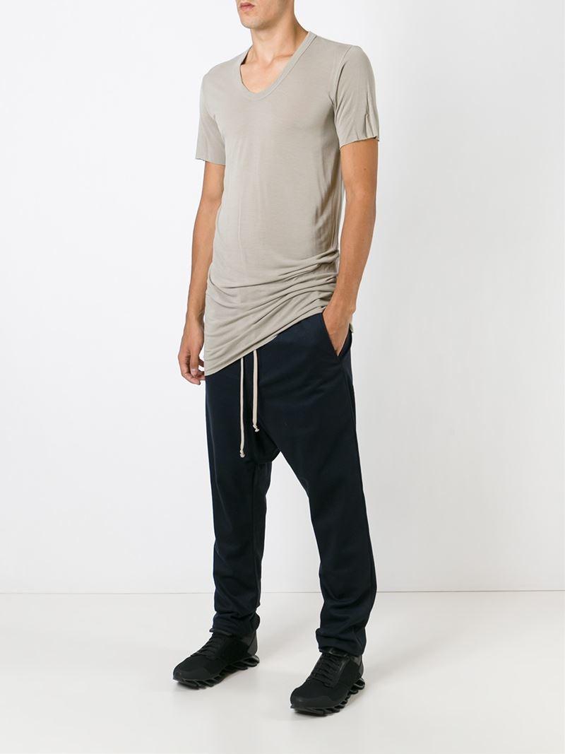 drop crotch track pants - Blue Rick Owens 0YBULaKe