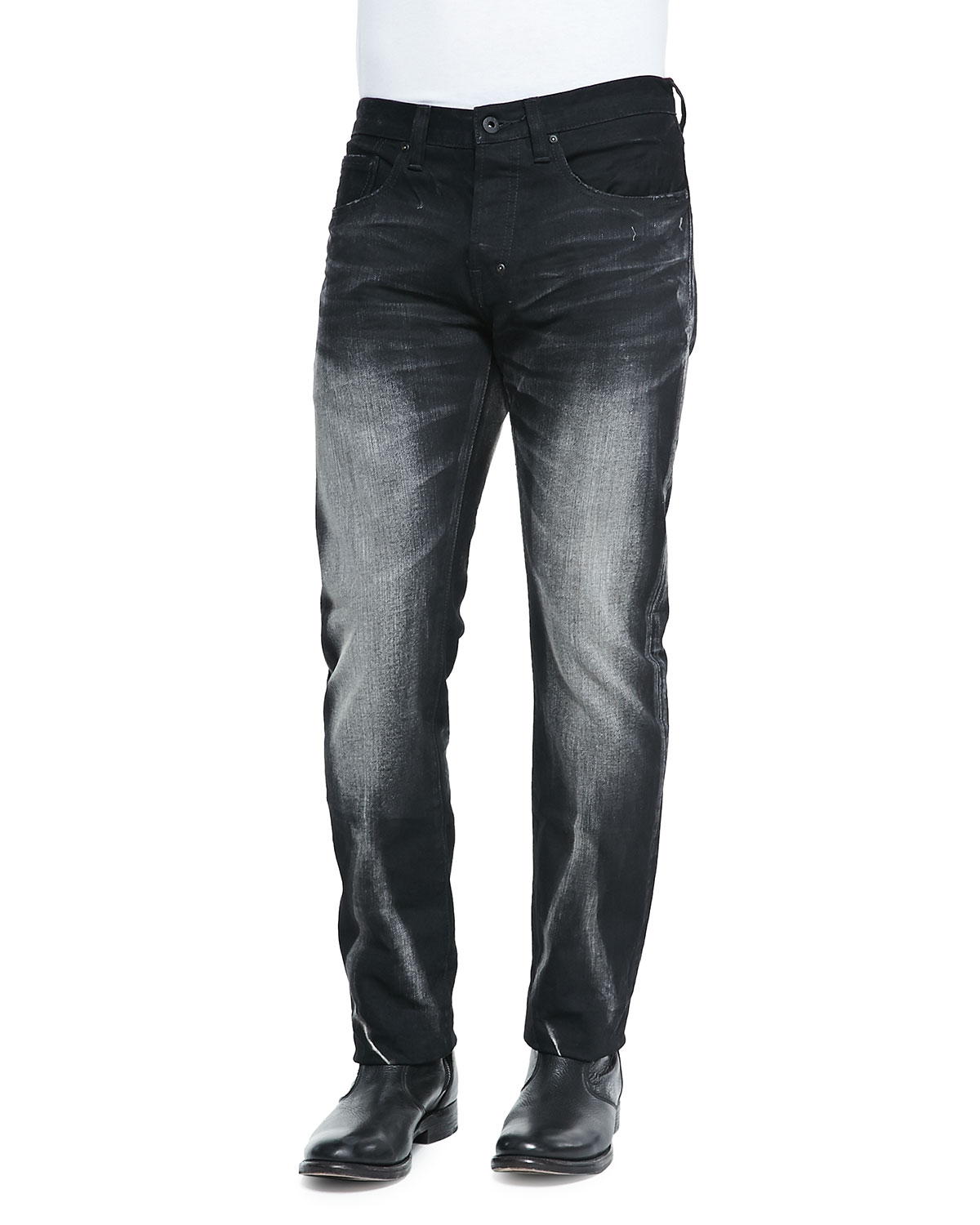 Prps Barracuda Faded Wash Denim Jeans in Black for Men | Lyst