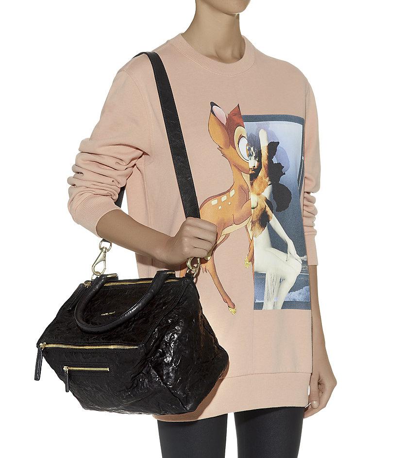 a42d3ef95d Givenchy Medium Washed Leather Pandora Bag in Black - Lyst