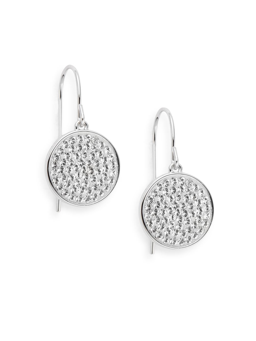Swarovski Top Crystal Pav 233 Round Drop Earrings In Metallic