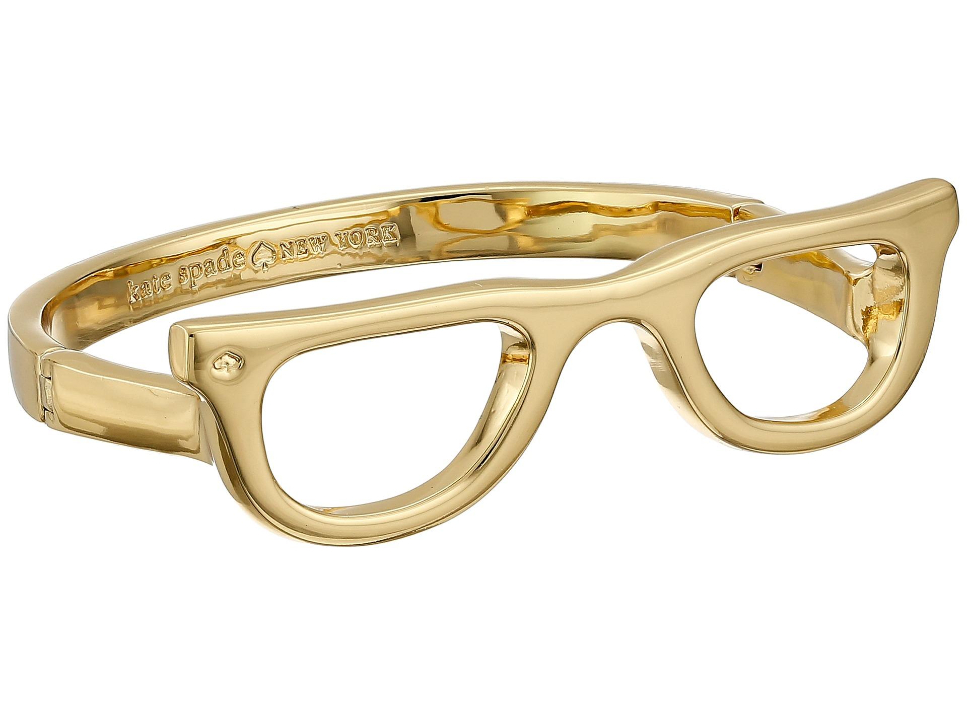 3df7b6d4371 Lyst - Kate Spade Goreski Glasses Bangle Bracelet in Metallic