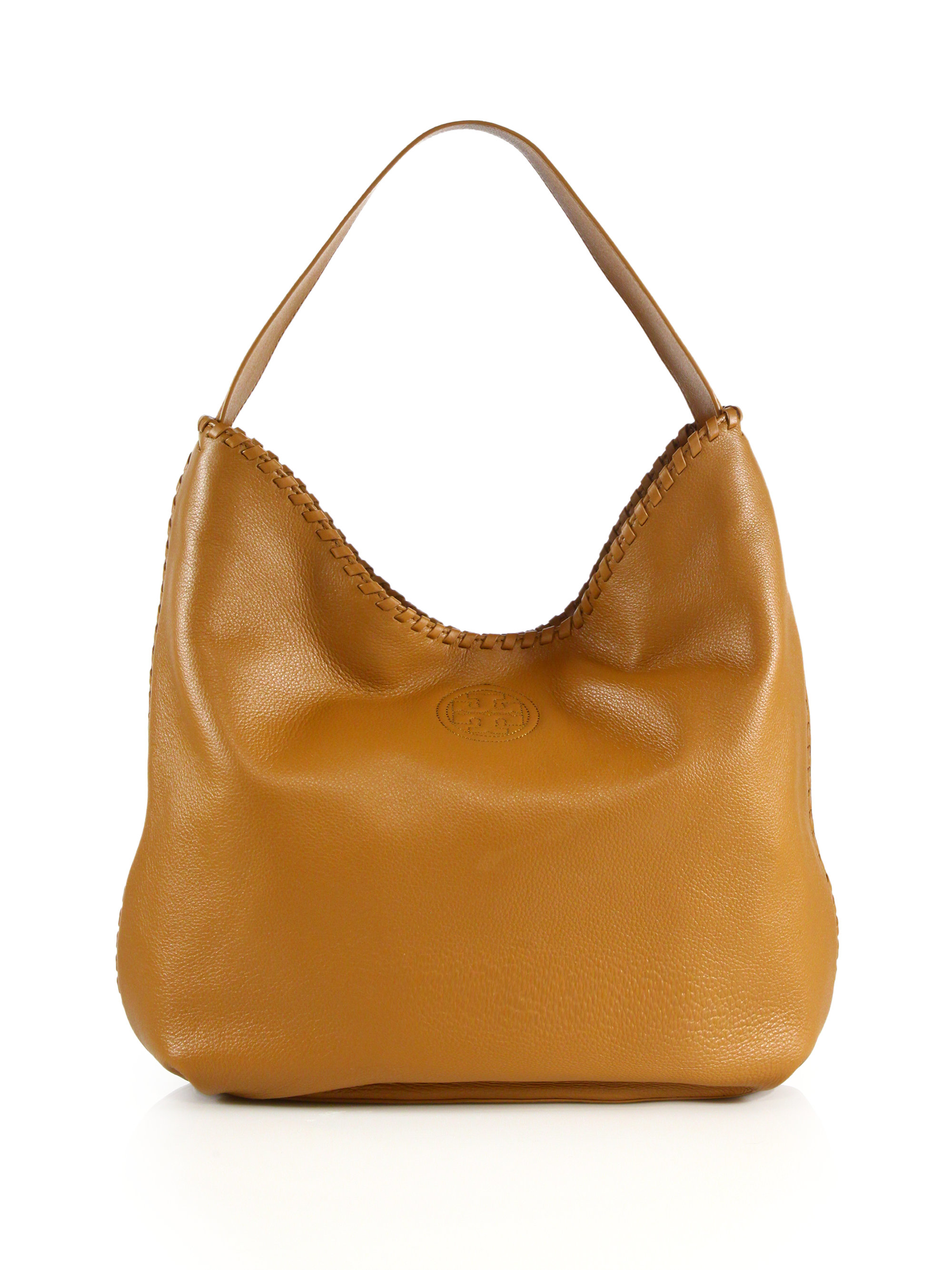 52200ba4d64f Lyst Tory Burch Marion Slouchy Leather Tote Bag Royal Tan In Brown ...