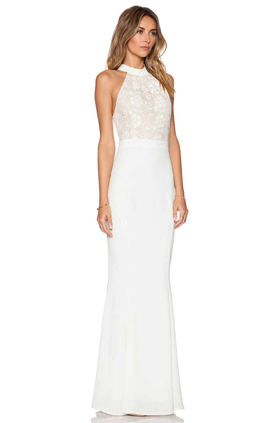 Lyst Jarlo Lace Caden Maxi Dress In White