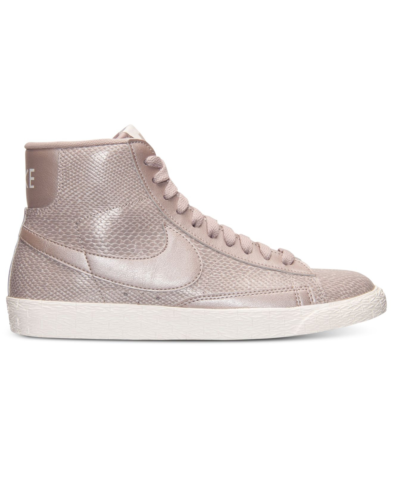 nike womens blazer mid leather premium casual sneakers from finish line