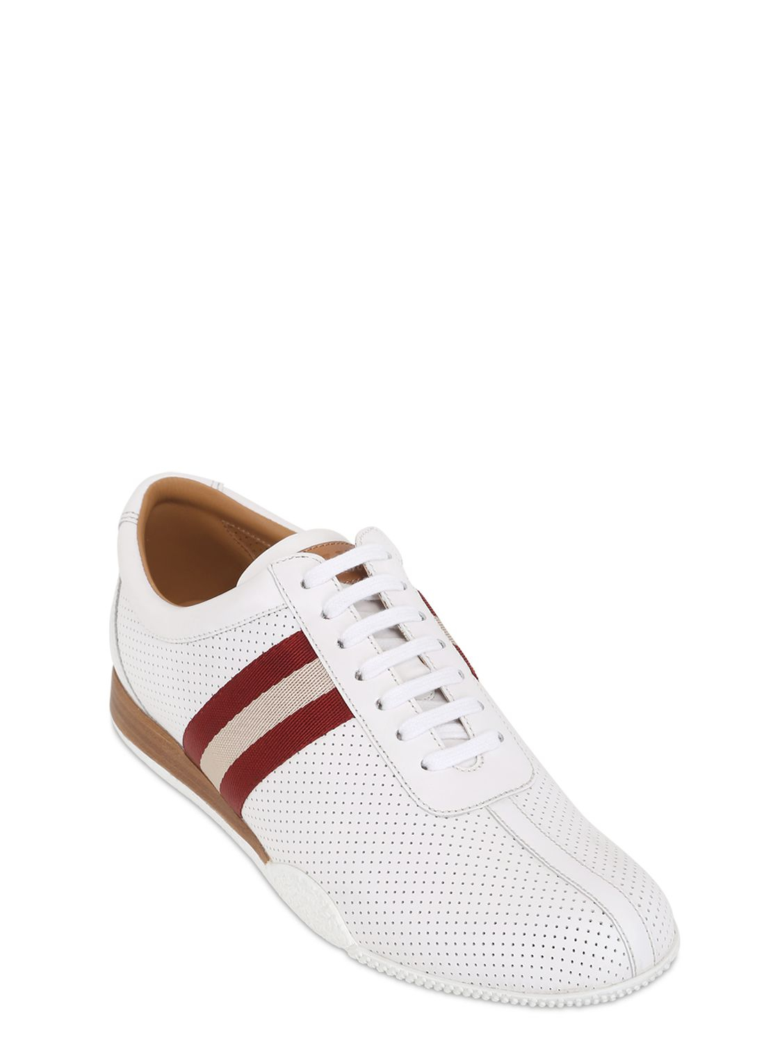 3ab110c63 Bally Frenz Perforated Leather Sneakers in White for Men - Lyst