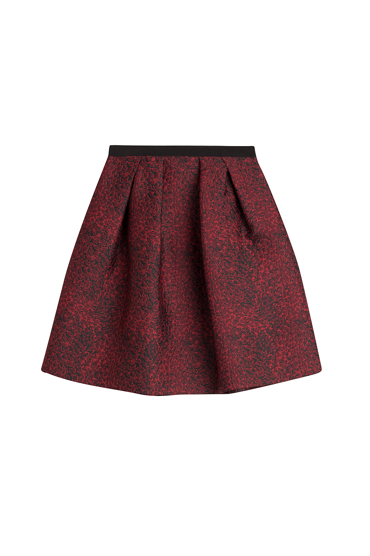 burberry pleated jacquard skirt in save 31 lyst