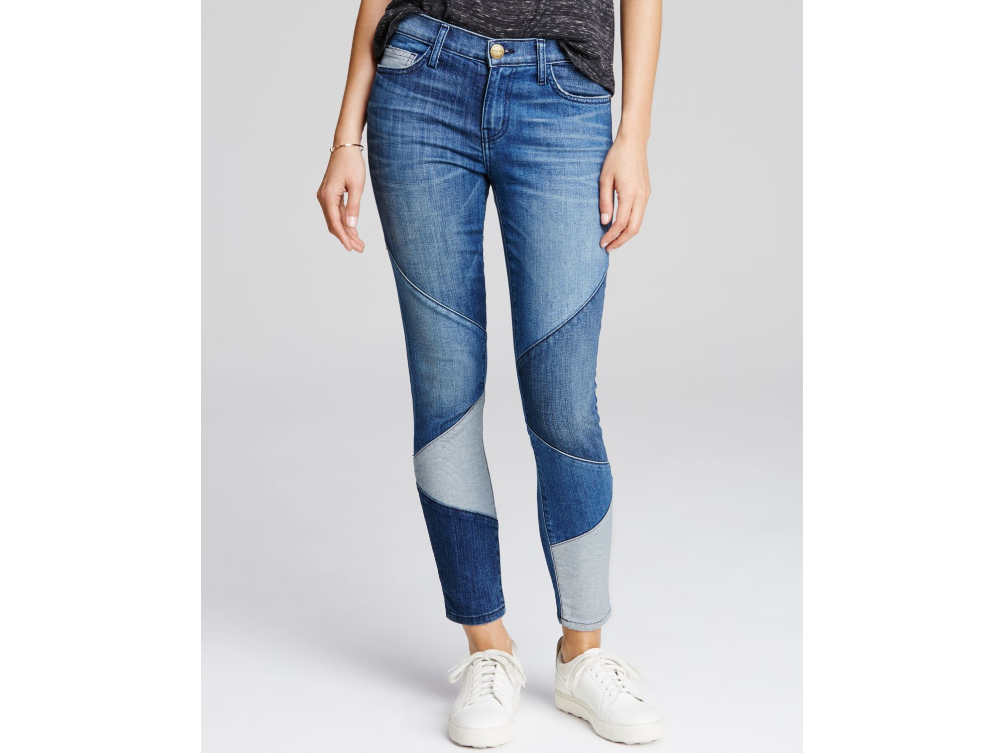 Current/elliott Stiletto Patchwork Jeans in Blue Lyst